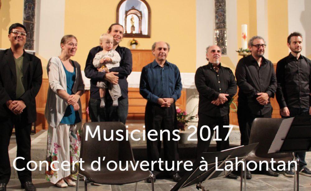 Musiciens au concert d'ouverture du Festival de Lahontan