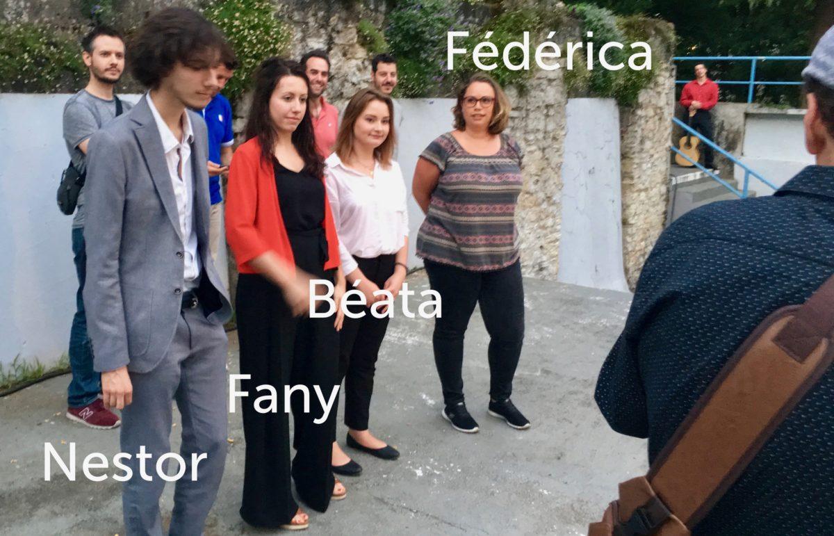 Nestor, Fany, Béata & Fédérica au Festival des Musicales de Lahontan