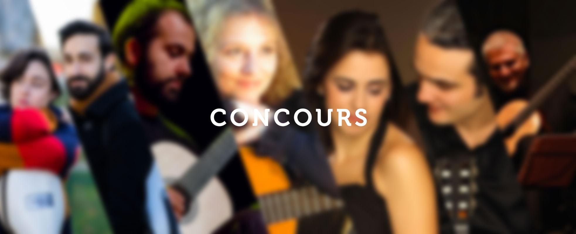 Affiche du pass concours du Festival de Guitare
