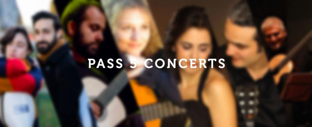 Affiche du pass 5 concerts du Festival de Guitare
